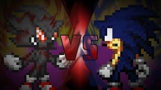 Semi Dark Sonic VS Dark Fleetway Sonic [REMAKE]