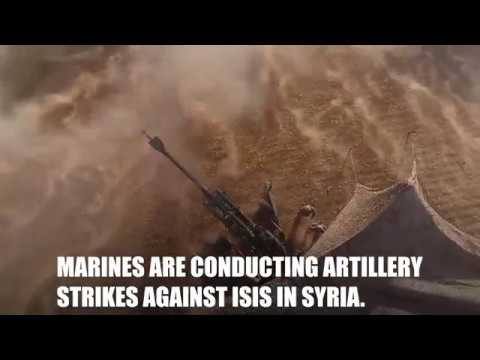 Marine Provide 24/7 Fire Support in Syria