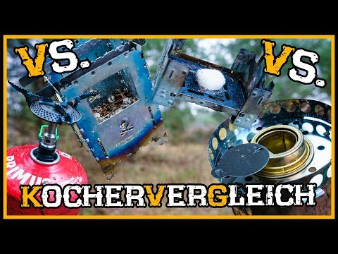 Vergleich: Hobokocher vs. Trangia vs. Gaskocher vs. Esbitkocher  - Outdoor Bushcraft Survival Kocher