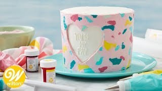 How to Make A Valentine's Day Buttercream Transfer Cake | Wilton