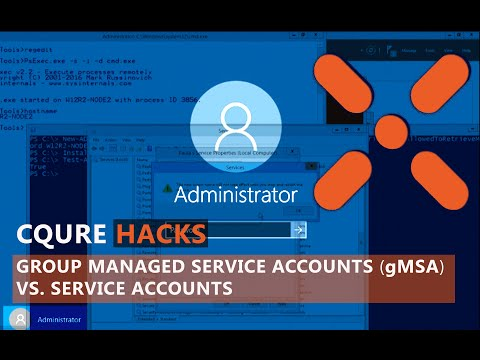 How To Use Group Managed Service Accounts (gMSA) vs  Service