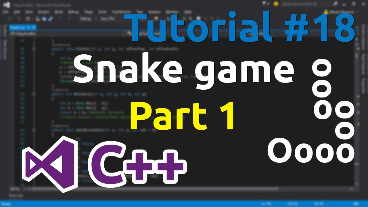 C++ Tutorial 18 - Simple Snake Game (Part 1)