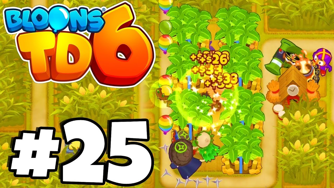 WORLD RECORD BIGGEST FARM EVER?! - Bloons Tower Defense 6 Part 25 (BTD 6  IOS/Android)