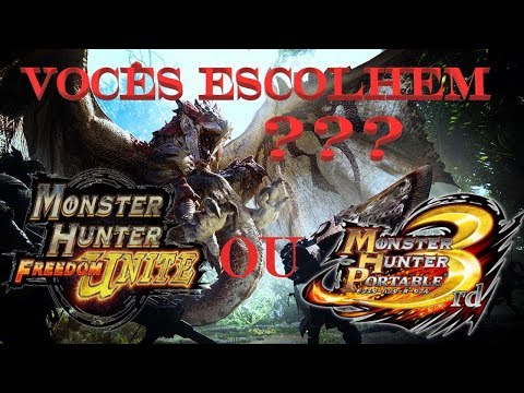 Monster Hunter ??? vocês Escolhem ? FU ou 3RD ❓❓❓ thumbnail