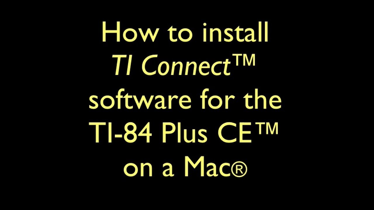 ti connect mac not working