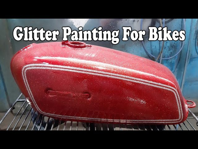 Glitter Painting for RX 100  | Yamaha RX100 Painting Design