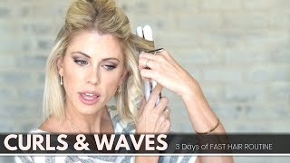 Download Short Hair Curls and Waves [3 days of easy- lasting hair ideas] Mp3 and Videos