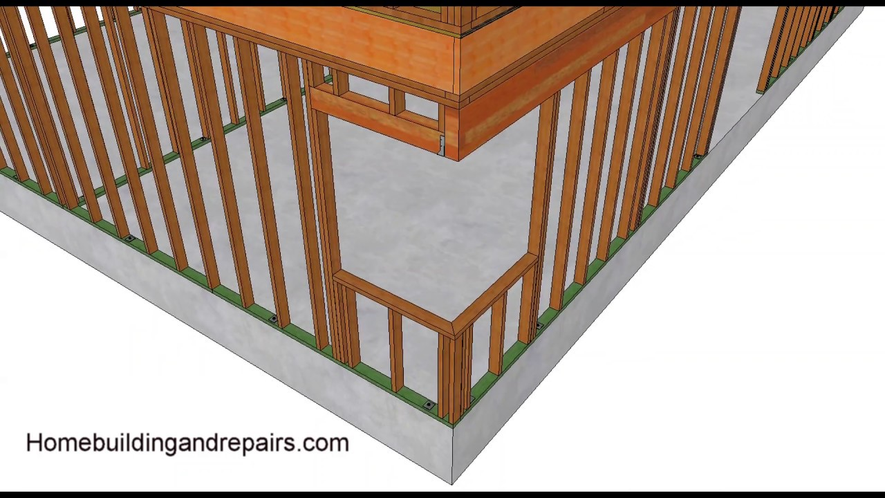 how to frame corner window without corner post home building youtube. Black Bedroom Furniture Sets. Home Design Ideas