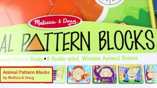 Animal Pattern Blocks By Melissa & Doug 4382