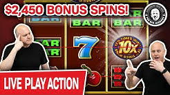 🔴 $2,450 LIVE Bonus Spins 🎰 Saturday MEGA SLOT PLAY!