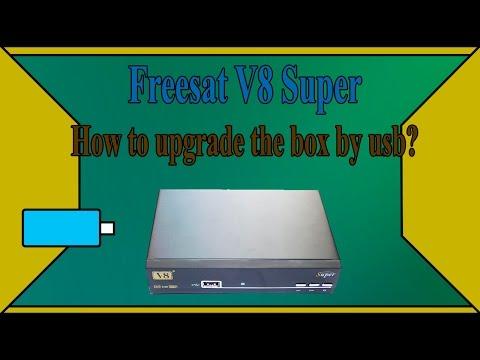 Freesat v8 super How to upgrade (damp) software by usb  v8 golden, openbox v8 super