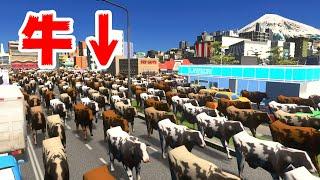 丑年なので牛20,000頭を集めてみた結果酷いことになった【Cities Skylines】