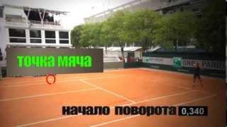 Теннис. Удар слева двумя руками. Урок 3. Поворот и движение мяча.