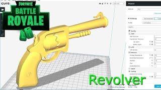 Fortnite battle royale revolver 3d printable model
