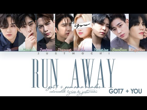 GOT7 (갓세븐) – 'RUN AWAY' [8 Members Ver.] (Color Coded Lyrics Eng/Rom/가사)
