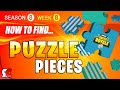 Fortnite WEEK 8 All JIGSAW Puzzle Locations (Season 8 Jigsaw Puzzle Pieces)