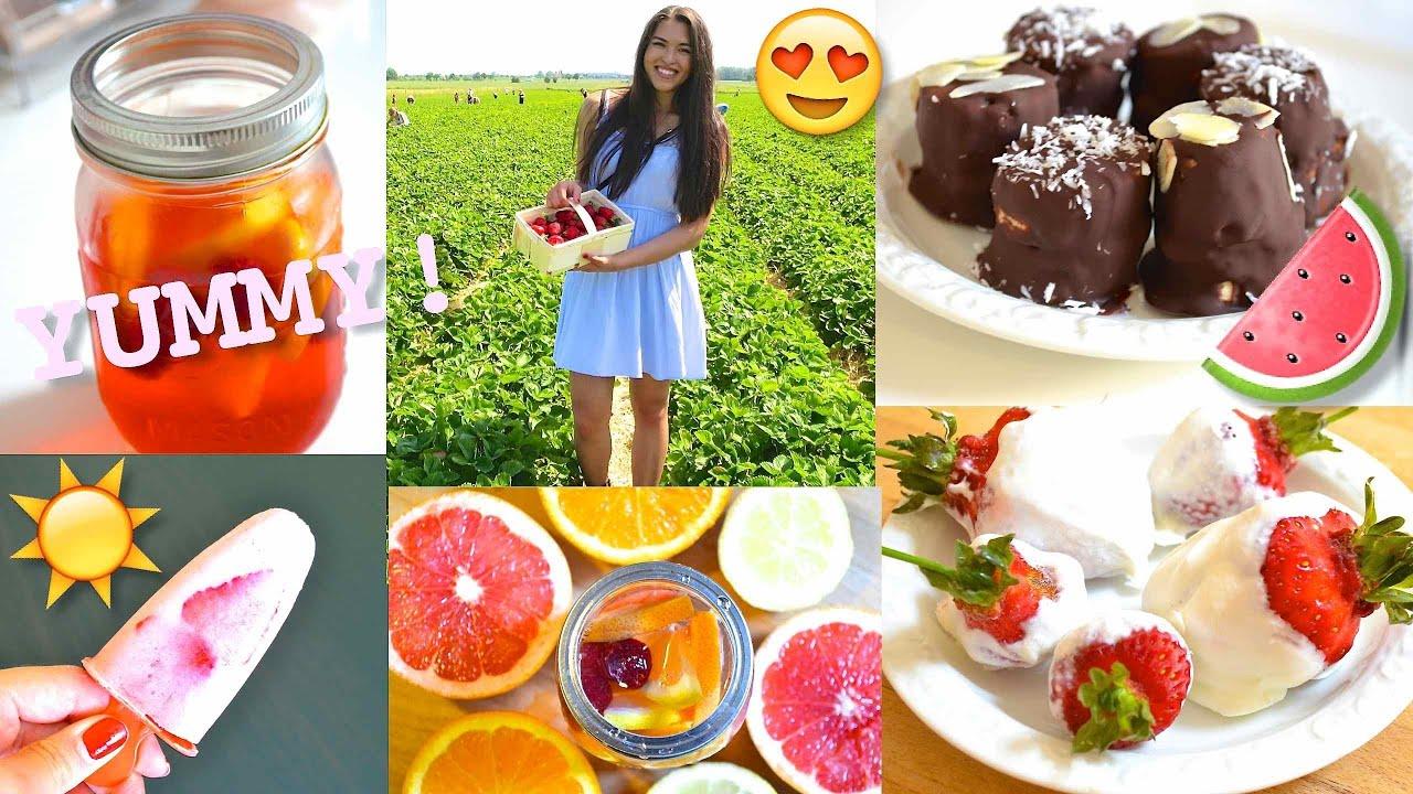 diy leckere gesunde sommer snacks ohne schlechtes gewissen genie en youtube. Black Bedroom Furniture Sets. Home Design Ideas