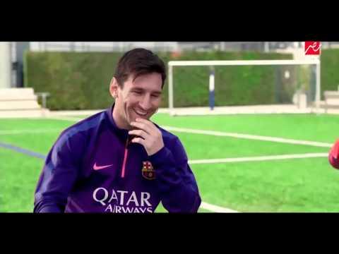فيديو ليونيل ميسي يقول بالعربي ايوة انا مشهور HD