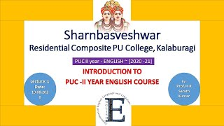 English : Introduction to PU 2nd year Syllabus + QP Model