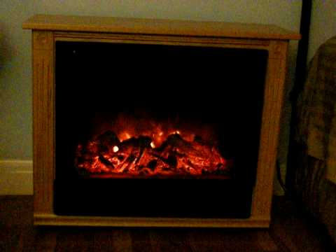 Heat Surge Electric Fireplace - YouTube