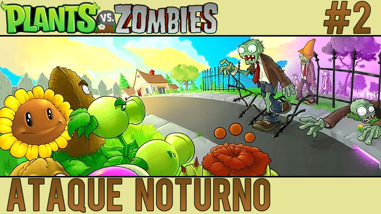 Plants vs zombies 2 ataque noturno youtube for Cuartos decorados de plants vs zombies