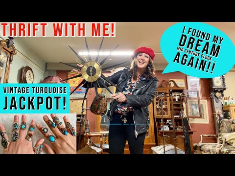 Thrift With Me! Small Town Pickin' I Hit The Turquoise Jackpot! And Found My Dream Clock... AGAIN!