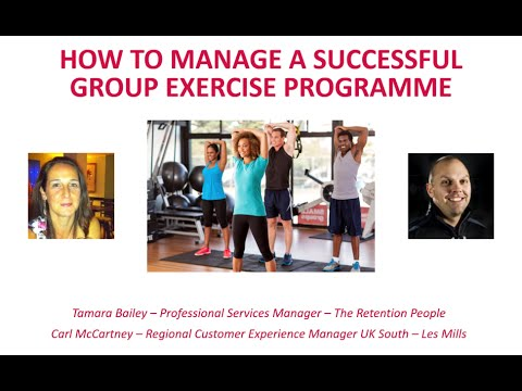 How to Manage a Successful Group Exercise Programme - Webinar April 2016