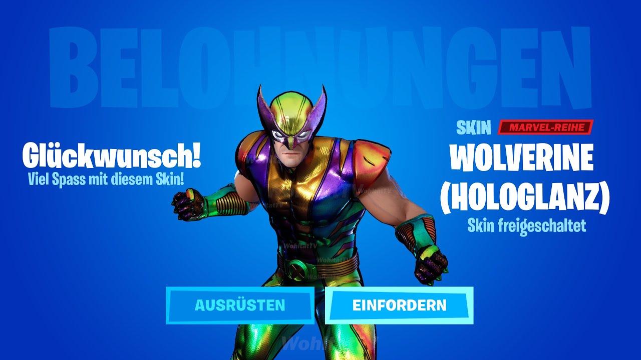 HOLOGLANZ Wolverine freischalten (Fortnite - Alle Silberglanz, Goldglanz & Hologlanz Skins bekommen)
