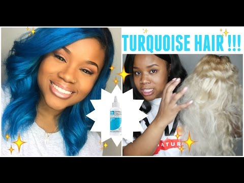 TURQUOISE HAIR !!! - Via Natural Living Colors Hair Dye