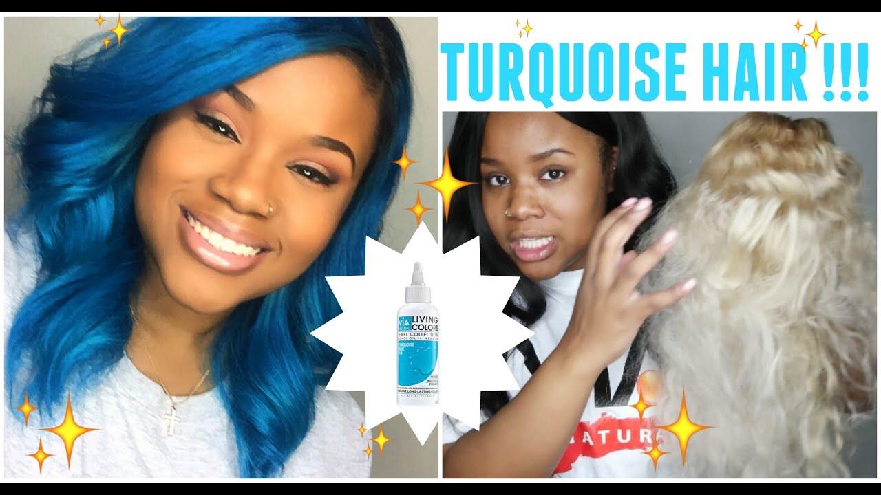 Turquoise Hair Via Natural Living Colors Hair Dye Youtube