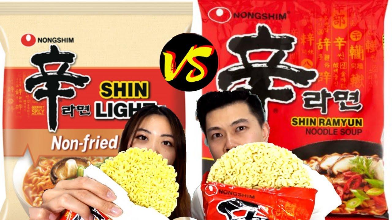 NEW* SHIN RAMEN LIGHT vs Original - YouTube