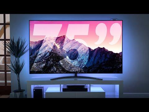 "BIG TV Living Room Setup | LG 75"" NanoCell"