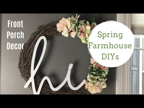 AFFORDABLE SPRING PORCH DECOR | RUSTIC FARMHOUSE STYLE DIY PROJECTS | 2 PROJECTS