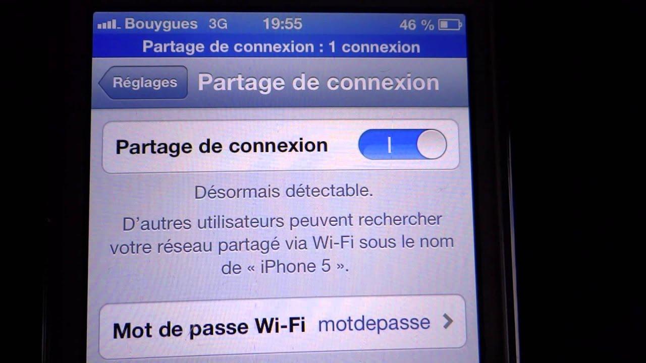 Partage De Connexion Free Iphone