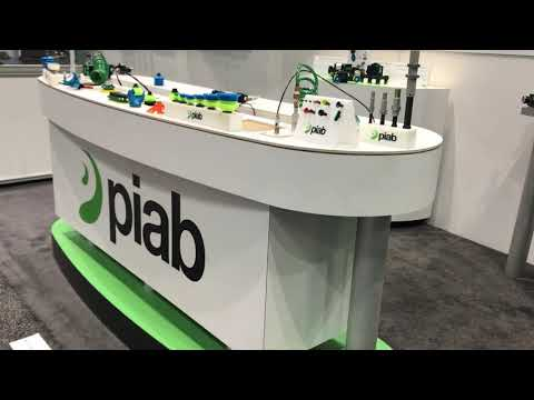 The Automate 2019 trade show booth - Piab