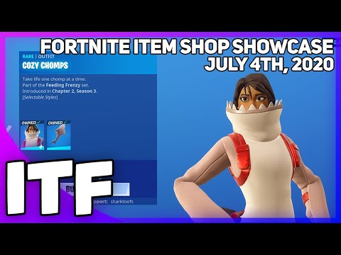 Fortnite Item Shop *NEW* FEEDING FRENZY SET! [July 4th, 2020] (Fortnite Battle Royale)