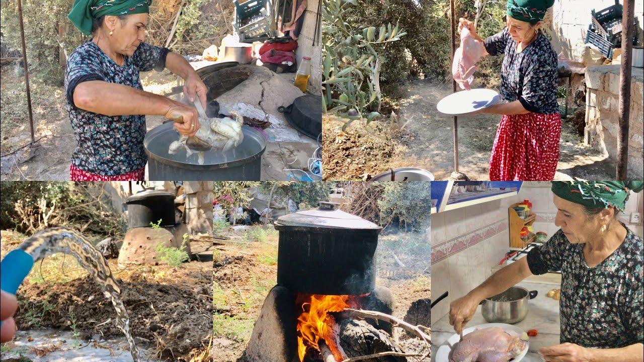 Öğlen yemeği günlük vlog ( pirinçli köy tavuğu )