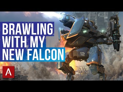 War Robots Gameplay  Brawling With My NEW Falcon  Champion League Hangar  WR