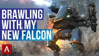 War Robots Gameplay / Brawling With My NEW Falcon! / Champion League Hangar   WR