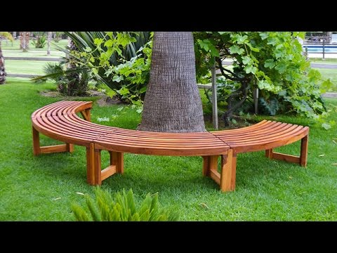 Красивые лавочки и скамейки для сада, 45 фото