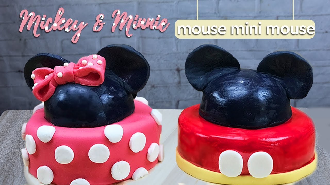 How To Make Mickey Mouse Cake And Minnie Mouse Cake Mini Cakes By Cake Advisor Youtube