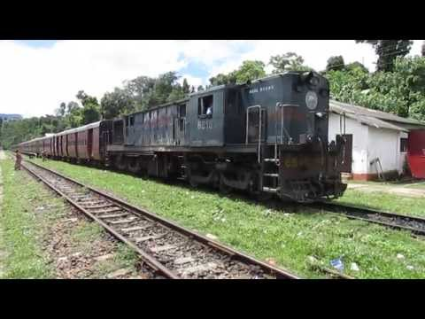 15691 Lumding Jn-Silchar Cachar MG express departing from Lower Haflong railway station!