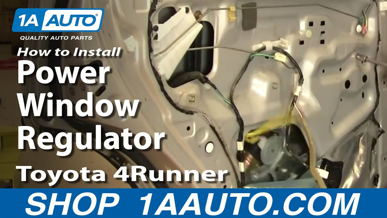 how to install replace rear power window regulator toyota 4runner