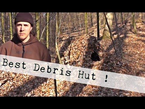 Debris Hut Survival Shelter / Unterkunft bauen / Bushcraft Survival Training Schweiz