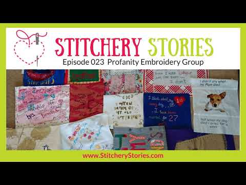 Profanity Embroidery Group: Huge Fun With Beautiful Art And Ugly Words