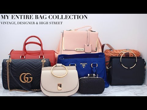 MY ENTIRE BAG COLLECTION | VINTAGE, GUCCI, PRADA, ZARA & MORE | FASHIONBEAUTYBUG