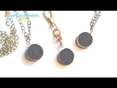 Collares y Llaveros Mini Oreo con Porcelana fría para Souvenirs (Fácil) , YouTube