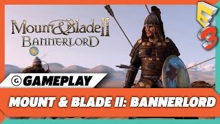 mount and Blade 2: Bannerlord  E3 2017 gameplay / геймплей с Е3 (1080p 60 fps)