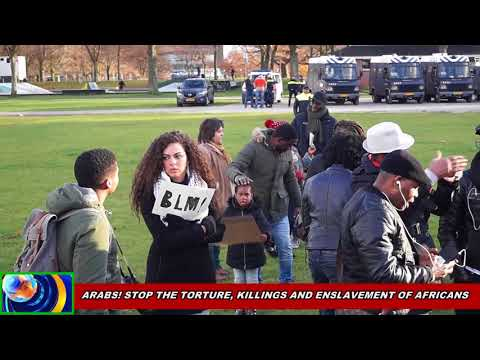 AFRICANS IN HOLLAND DEMONSTRATES AGAINST THE LIBYAN INHUMANE TREATMENT AGAINST AFRICANS