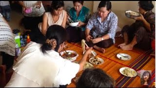 Cambodian Family Food, Family reunion, Yummy lunch